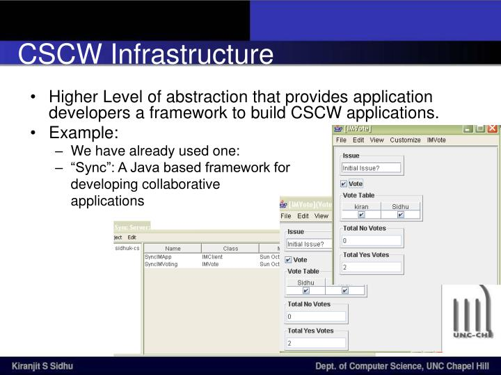 CSCW Infrastructure
