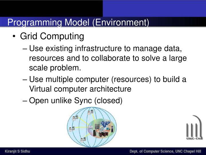 Programming Model (Environment)