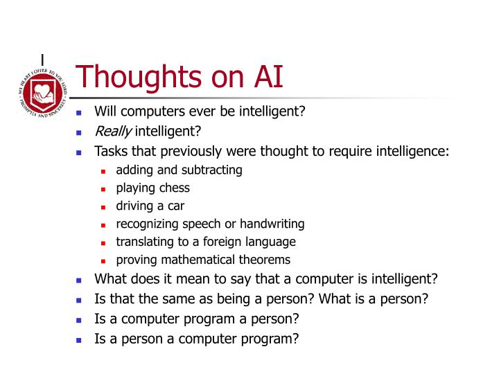 Thoughts on ai