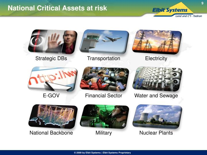 National Critical Assets at risk