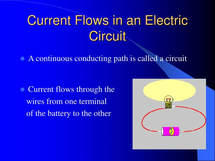Current Flows in an Electric Circuit