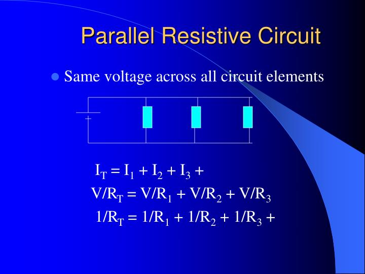 Parallel Resistive Circuit