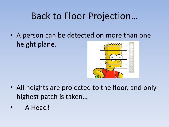 Back to Floor Projection…