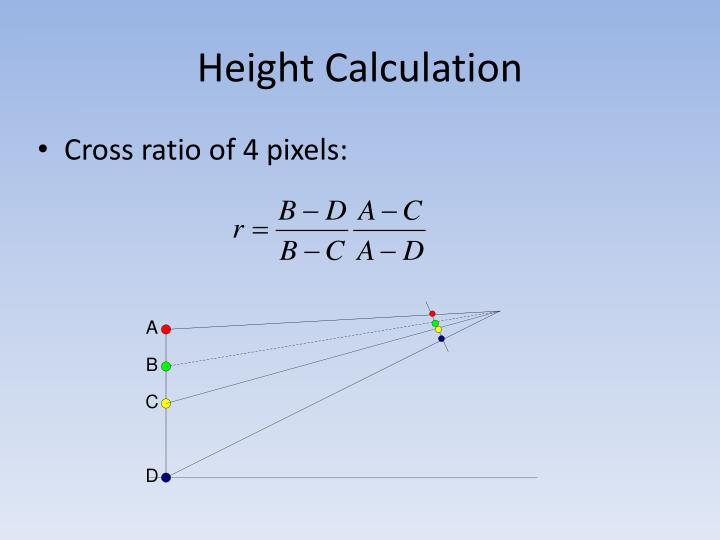 Height Calculation