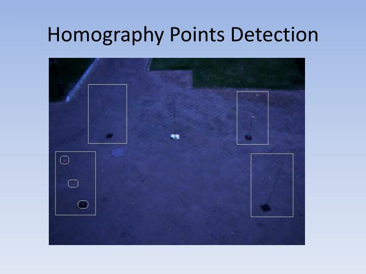 Homography Points Detection
