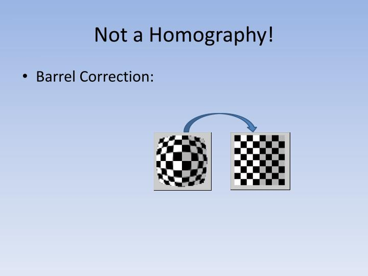 Not a Homography!