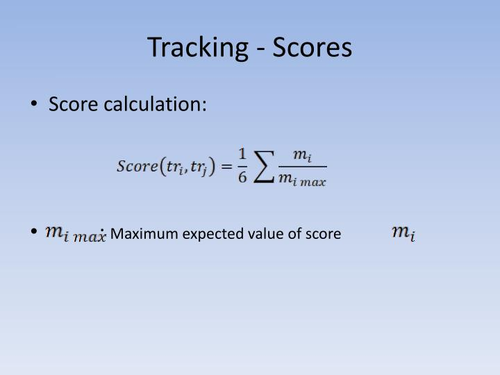 Tracking - Scores