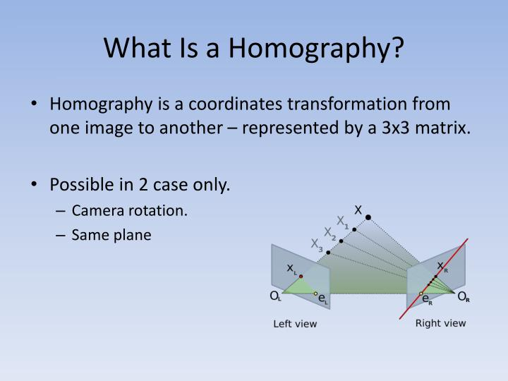 What Is a Homography?