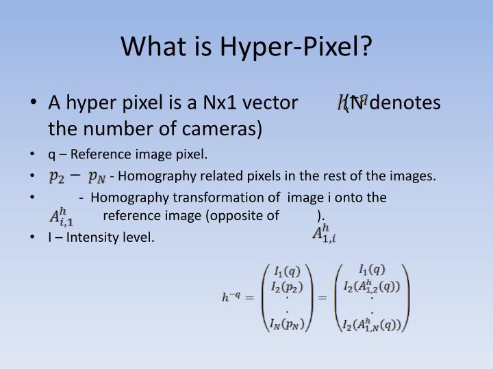What is Hyper-Pixel?
