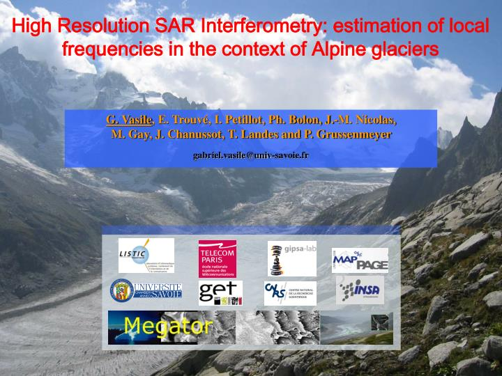 High Resolution SAR Interferometry: estimation of local