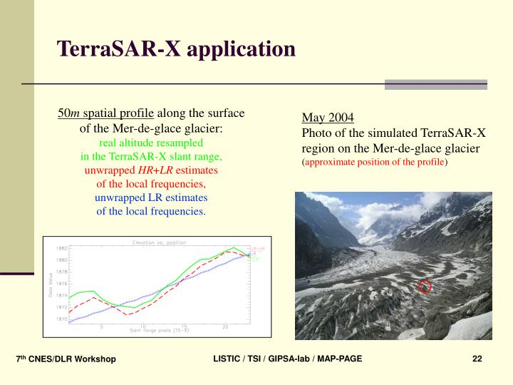 TerraSAR-X application