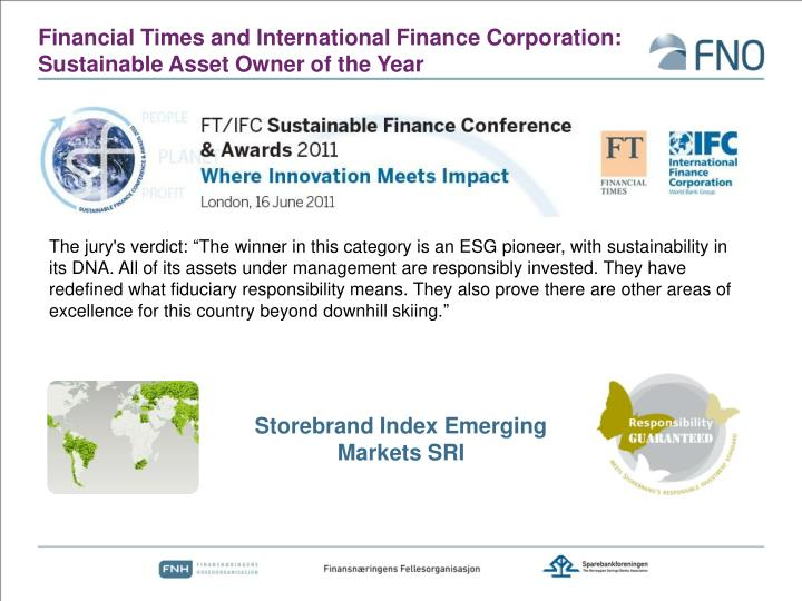 Financial Times and International Finance Corporation: