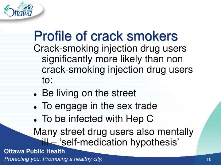 Profile of crack smokers