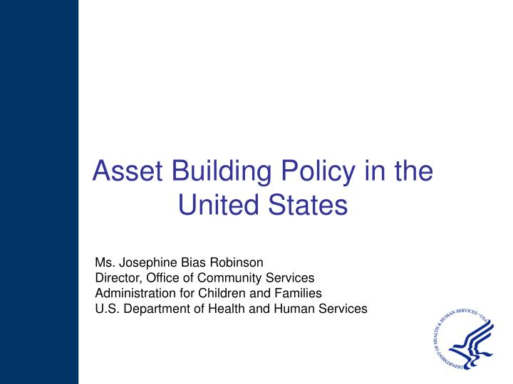 Asset Building Policy in the