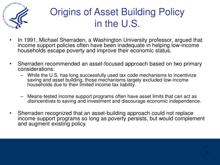 Origins of Asset Building Policy