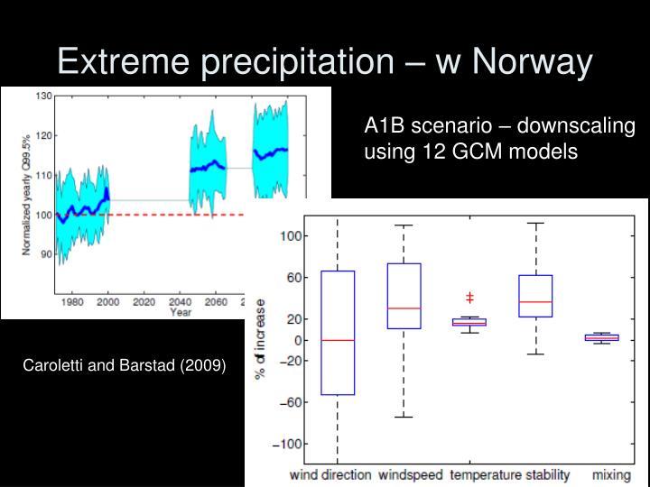 Extreme precipitation – w Norway