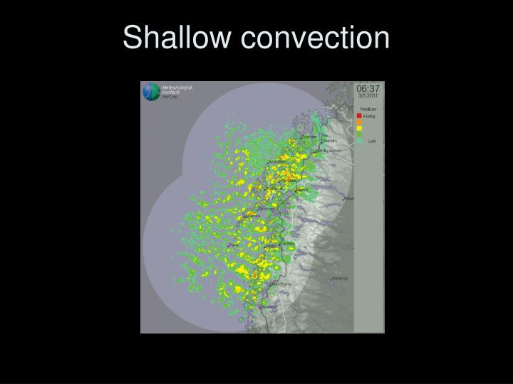 Shallow convection