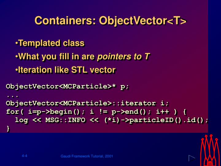 Containers: ObjectVector<T>