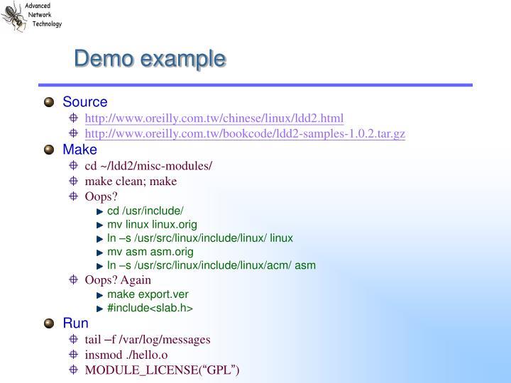 Demo example