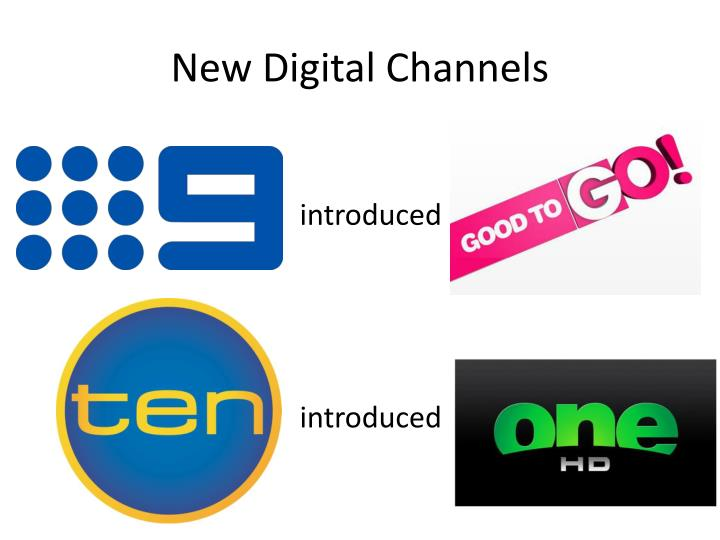 New digital channels