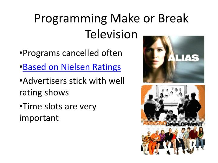 Programming Make or Break Television