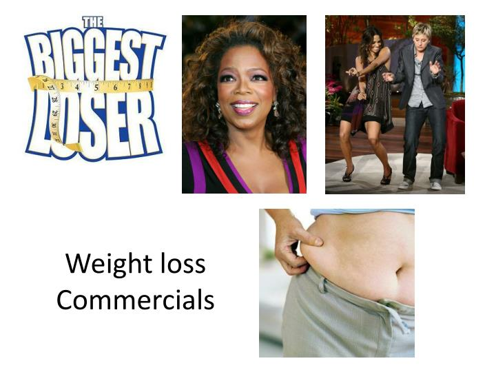 Weight loss commercials