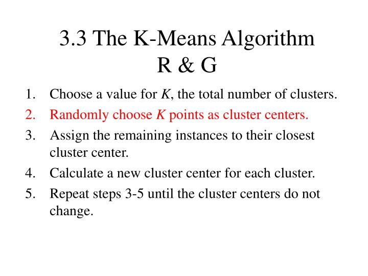 3.3 The K-Means Algorithm