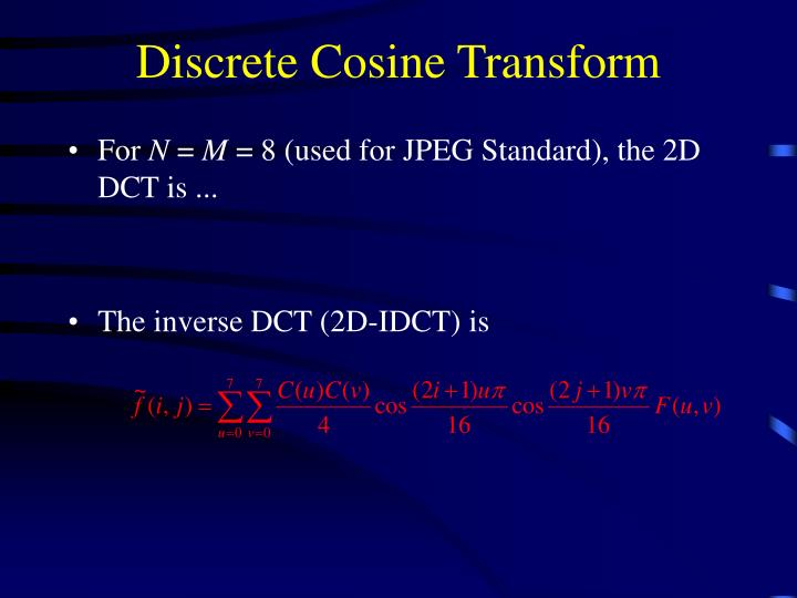 Discrete Cosine Transform