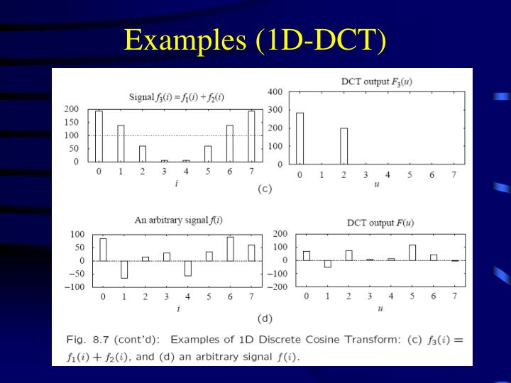 Examples (1D-DCT)