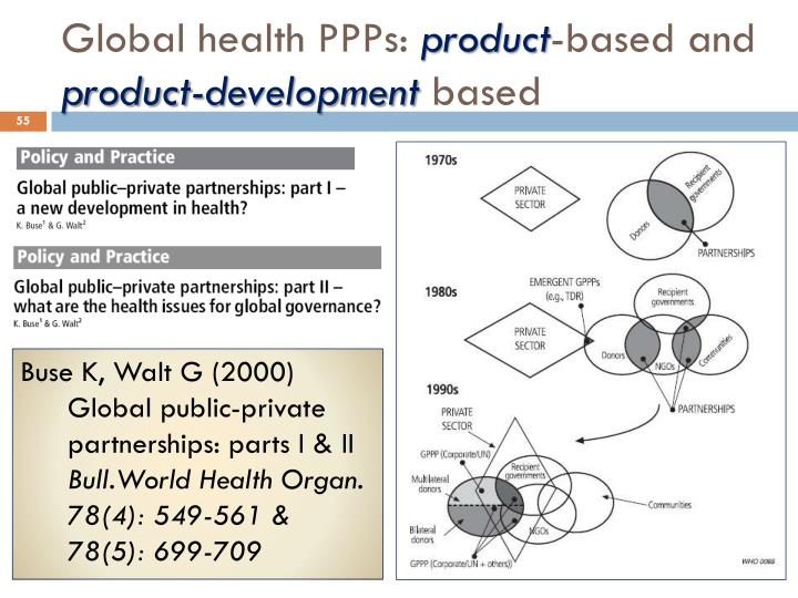 Global health PPPs: