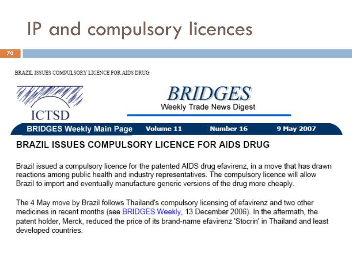 IP and compulsory licences