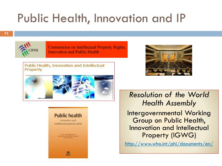 Public Health, Innovation and IP