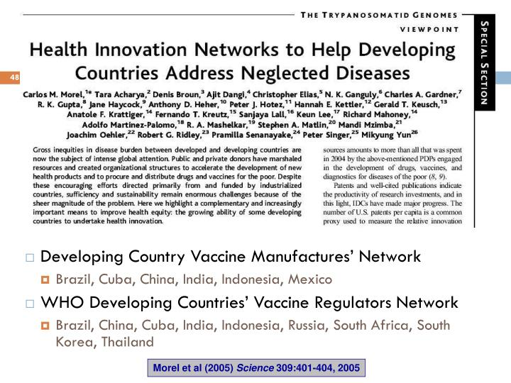 Developing Country Vaccine Manufactures' Network