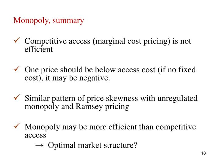 Monopoly, summary