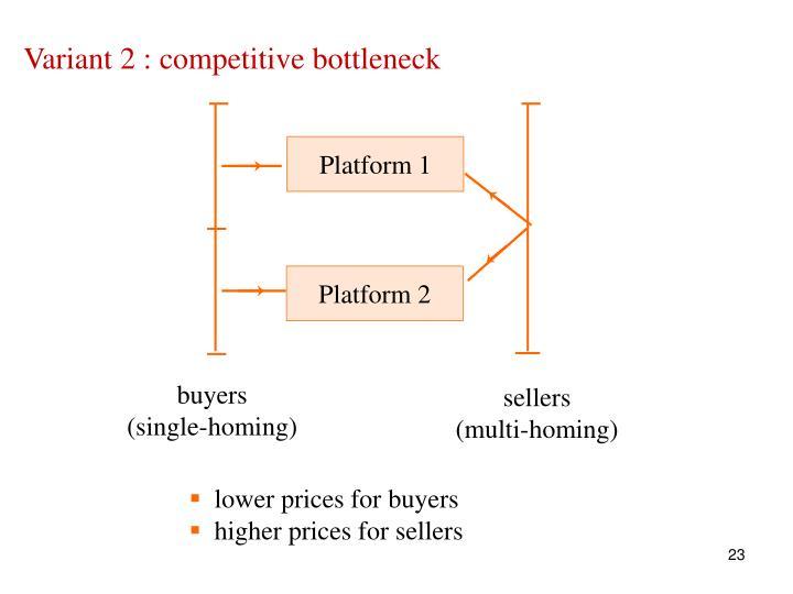 Variant 2 : competitive bottleneck