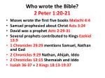 who wrote the bible 2 peter 1 20 21