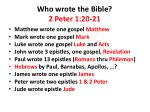 who wrote the bible 2 peter 1 20 215