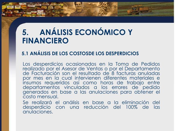 5.ANÁLISIS ECONÓMICO Y FINANCIERO