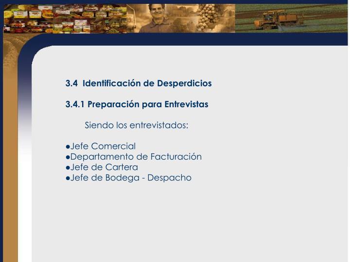 3.4  Identificación de Desperdicios