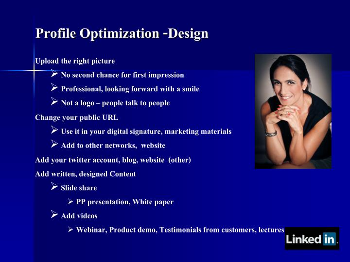 Profile Optimization -Design
