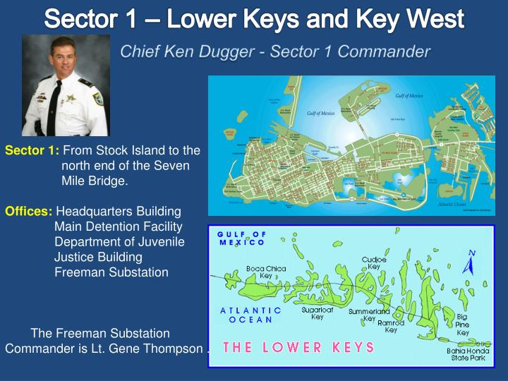 Sector 1 – Lower Keys and Key West