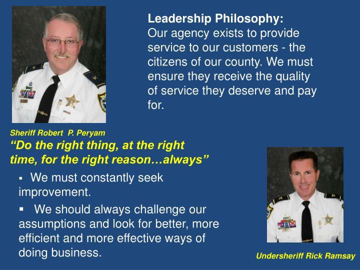 Leadership Philosophy: