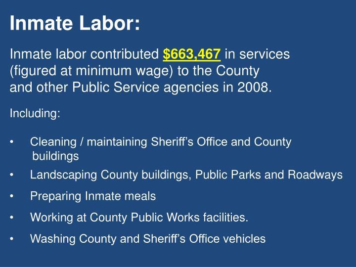 Inmate Labor: