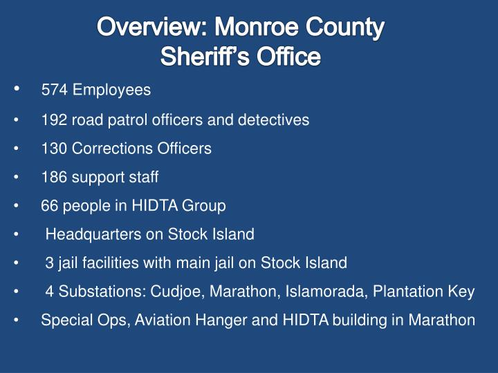 Overview: Monroe County Sheriff's Office