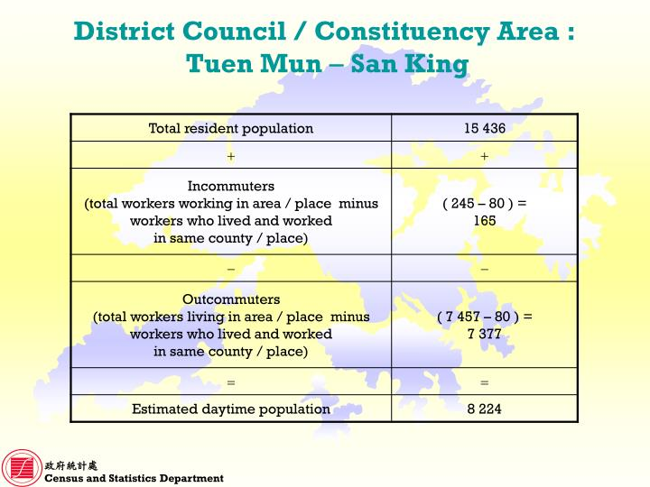District Council / Constituency Area :