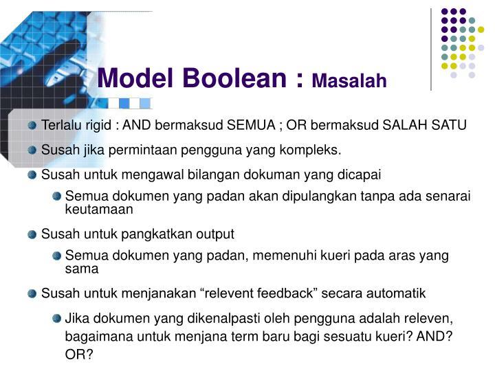 Model Boolean :