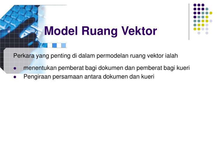 Model Ruang Vektor