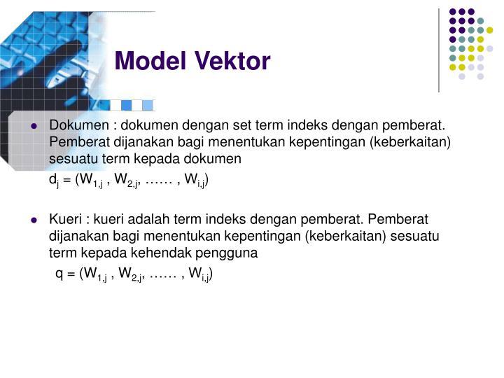 Model Vektor