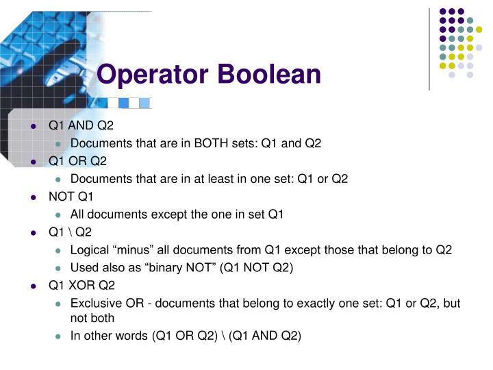 Operator Boolean