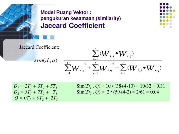 Model Ruang Vektor :